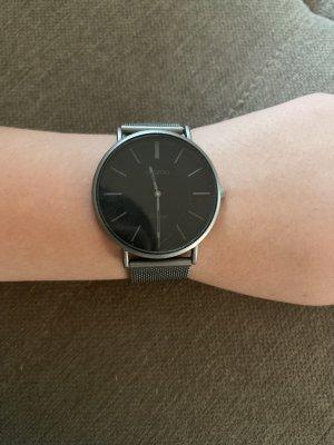 Oozoo Zegarek z metalowym paskiem czarny-szary