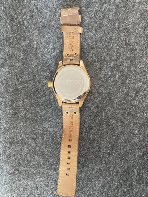 Oozoo Watch With Leather Strap rose-gold-coloured-brown