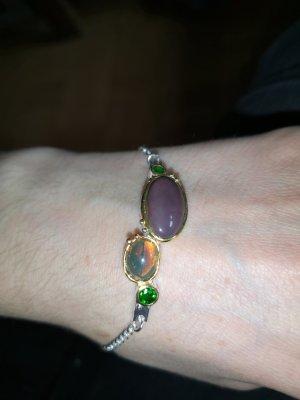 Opal armband, Silber