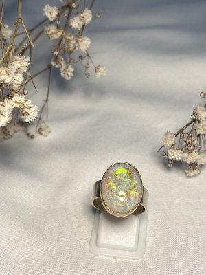 Anello d'argento viola-verde neon