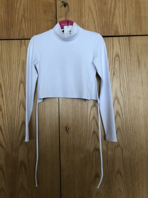 Open back high neck top