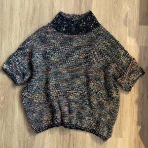 Open End Pullover a maglia grossa multicolore