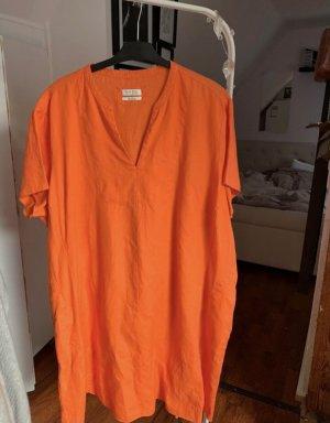 Open End leinen Kleid orange