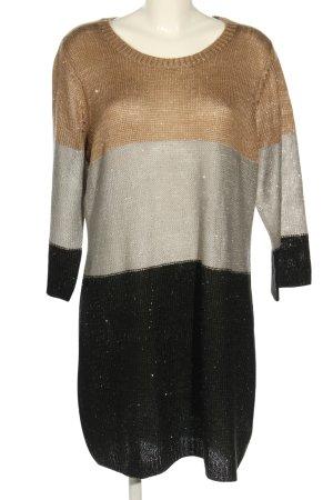 Open End Długi sweter Siateczkowy wzór W stylu casual