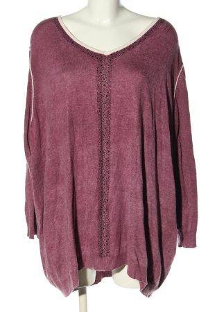 Open End V-Ausschnitt-Pullover pink Casual-Look