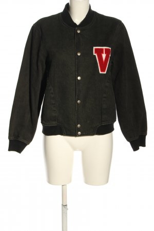 Opening Ceremony College Jacket brown-black printed lettering casual look