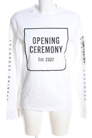 Opening Ceremony Longsleeve weiß Schriftzug gedruckt Casual-Look