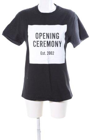Opening Ceremony T-Shirt schwarz Motivdruck Casual-Look