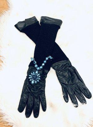 Antonio Murolo Leren handschoenen zwart Leer