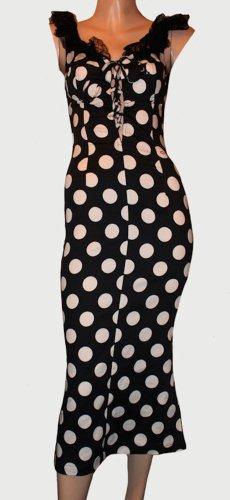 Opia Tube Dress black-white cotton