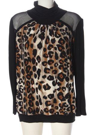 Oppose Maglia a collo alto Stampa leopardata stile casual