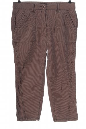 Opus 7/8 Length Trousers pink-black striped pattern casual look