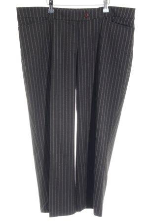 Opus 7/8-Hose dunkelbraun-creme Streifenmuster Logostickerei