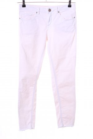 Opus 7/8-jeans wit-roze casual uitstraling