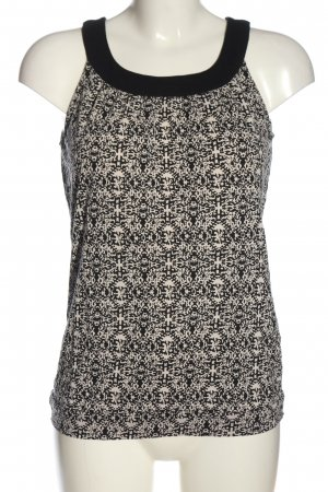 Opus Sleeveless Blouse black-white allover print casual look