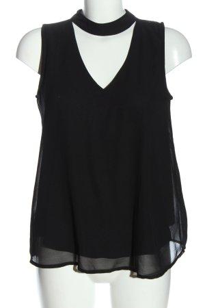 Opus ärmellose Bluse schwarz Casual-Look