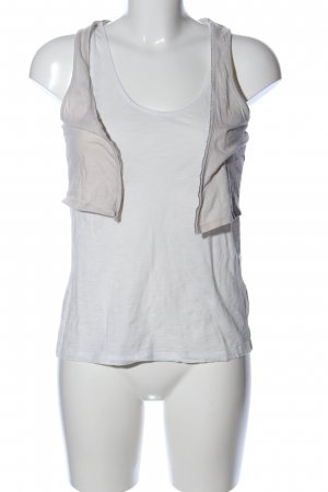 Opus Basic Top wollweiß-weiß Casual-Look