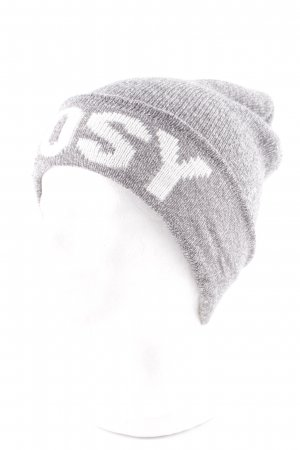 Opus Beanie light grey-white flecked casual look