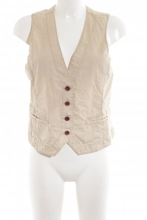 Opus Biker Vest natural white casual look