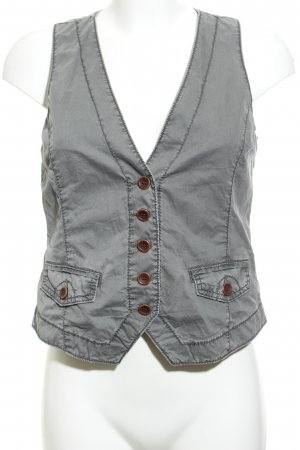 Opus Biker Vest grey casual look