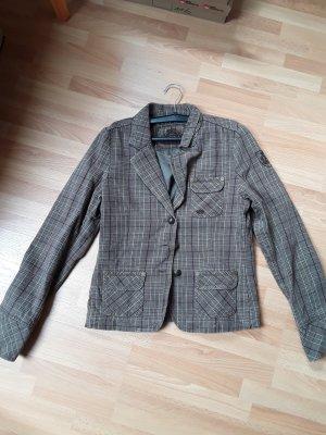 Opus Blazer Tweed marrón grisáceo Algodón