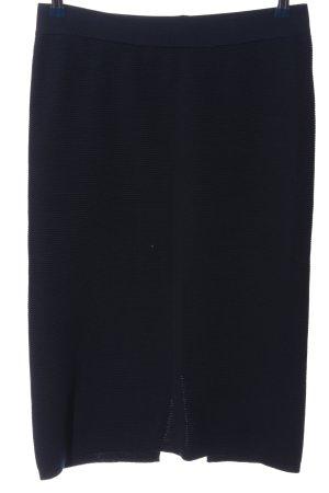 Opus Bleistiftrock blau Streifenmuster Casual-Look