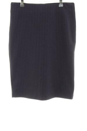Opus Jupe crayon noir motif rayé style d'affaires