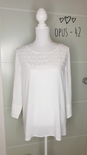 Opus Bluse 42 Finuo Special Boho weiß Hippie