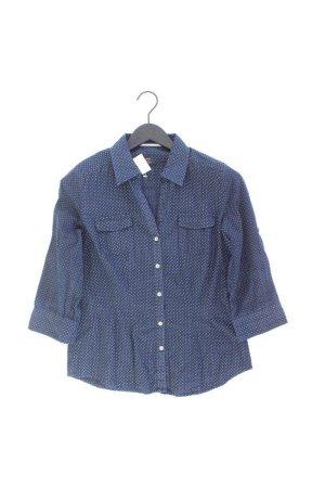 Opus Bluse Größe 358 3/4 Ärmel blau aus Baumwolle