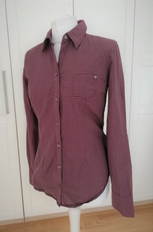 Opus Checked Blouse brown violet-purple