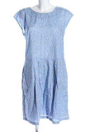 Opus Blusenkleid blau-weiß abstraktes Muster Casual-Look