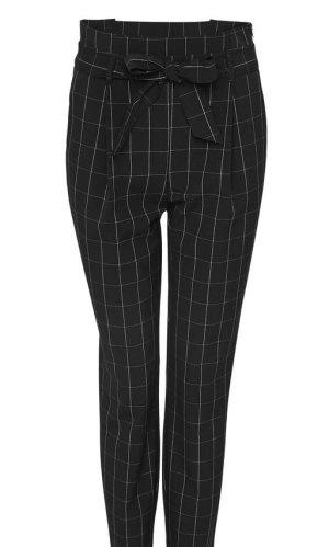 Opus Spodnie z zakładkami czarny-biały