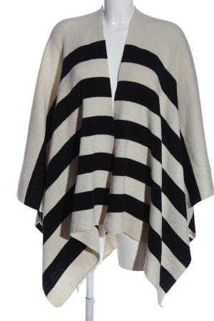 Opus Cape weiß-schwarz Streifenmuster Casual-Look