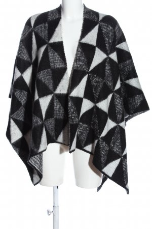 Opus Cape white-black graphic pattern casual look