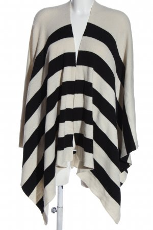 Opus Cape black-white striped pattern casual look
