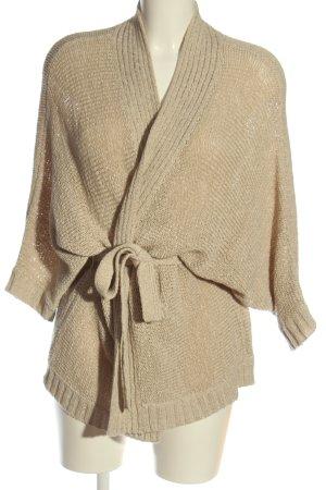 Opus Cardigan cream weave pattern casual look