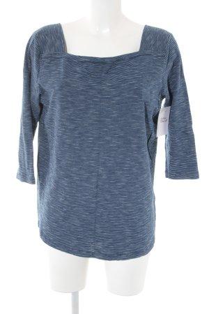 Opus Camisa tipo Carmen azul oscuro-blanco estampado a rayas look casual