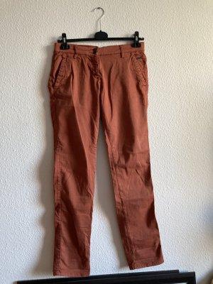 Opus Pantalone chino ruggine-rosso scuro