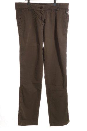 Opus Pantalon chinos brun style décontracté