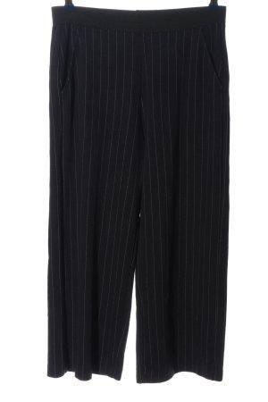 Opus Falda pantalón de pernera ancha negro estampado a rayas look casual