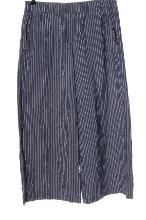 Opus Pantalone culotte blu-bianco stampa integrale stile casual