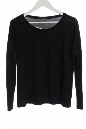Opus Fine Knit Jumper black casual look