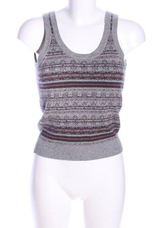 Opus Sweter bez rękawów z cienkiej dzianiny Graficzny wzór W stylu casual