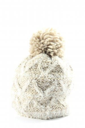 Opus Chapeau en fourrure crème-gris clair style décontracté