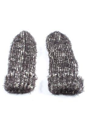 Opus Guanto senza dita grigio chiaro-bianco puntinato stile casual