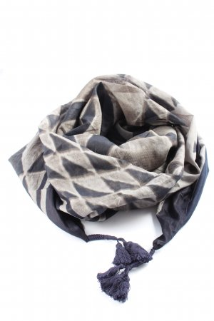 Opus Fringed Scarf abstract pattern casual look