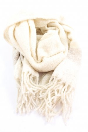 Opus Fringed Scarf cream-natural white street-fashion look