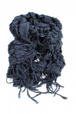 Opus Fringed Scarf blue casual look