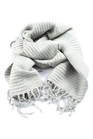Opus Bufanda de flecos gris claro look casual