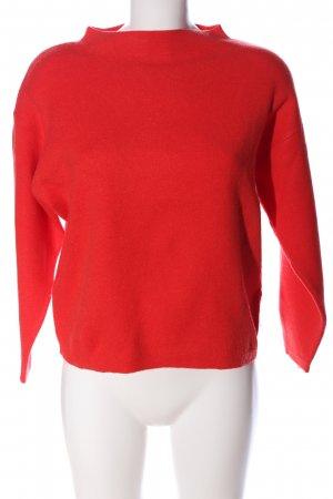 Opus Grobstrickpullover rot Casual-Look
